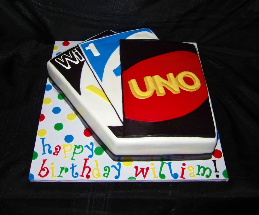 Uno Themed Cake on Cake Central
