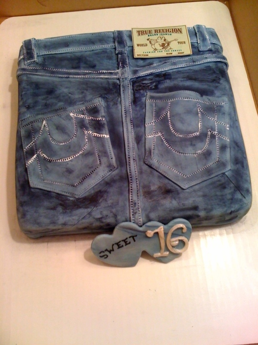 True Religion Blue Jeans Cake on Cake Central