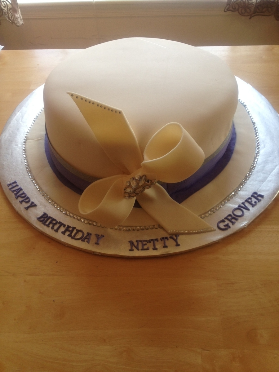 Church Lady Hat Cake on Cake Central