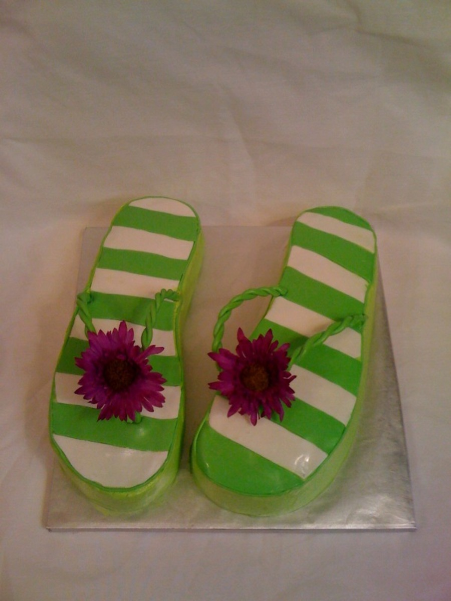 Flip Flop Birthday Cake on Cake Central