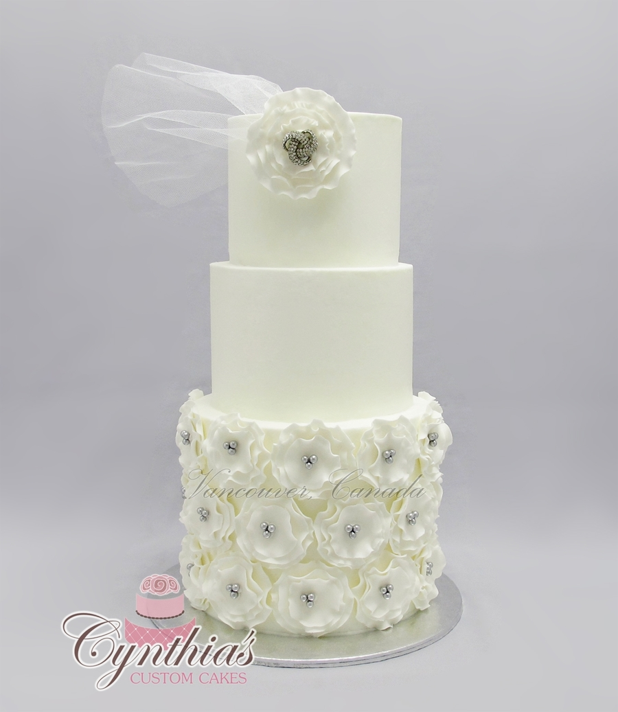Elegant Wedding Cake on Cake Central