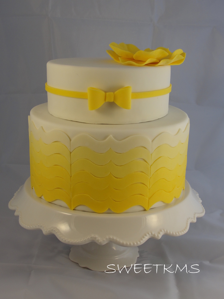 Yellow Ombre Bracket Cake Cakecentral Com