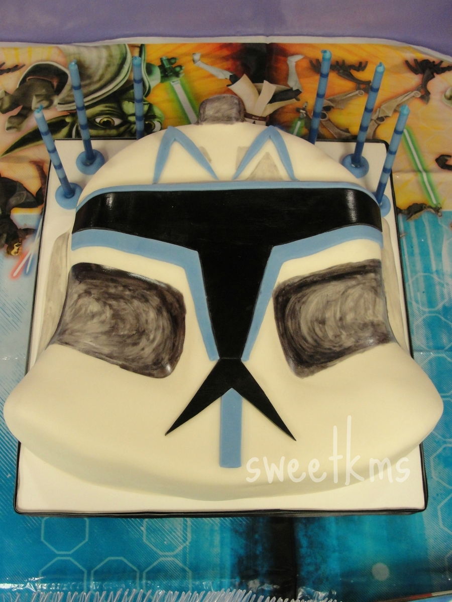 Clone Helmet on Cake Central