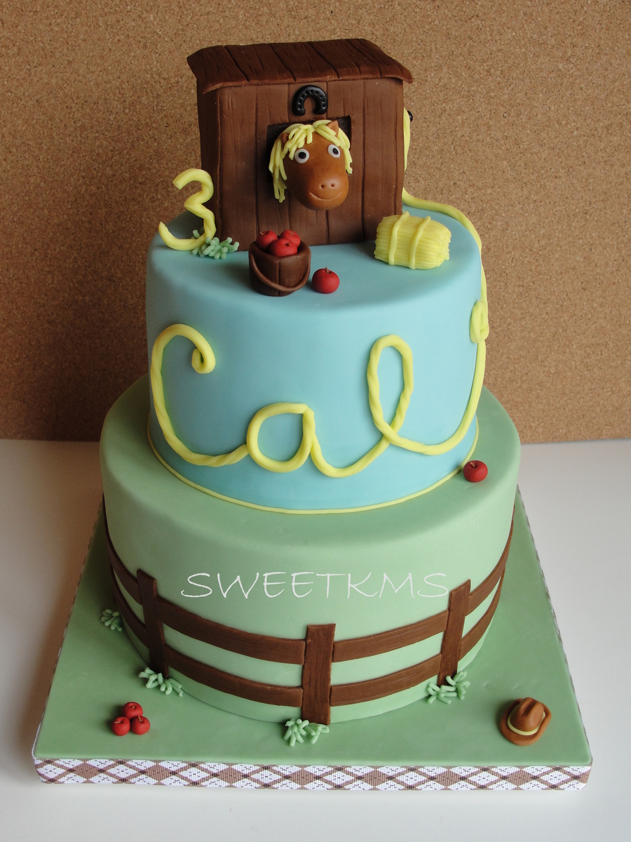 HorseThemed Birthday Cake CakeCentralcom - Horse themed birthday cakes