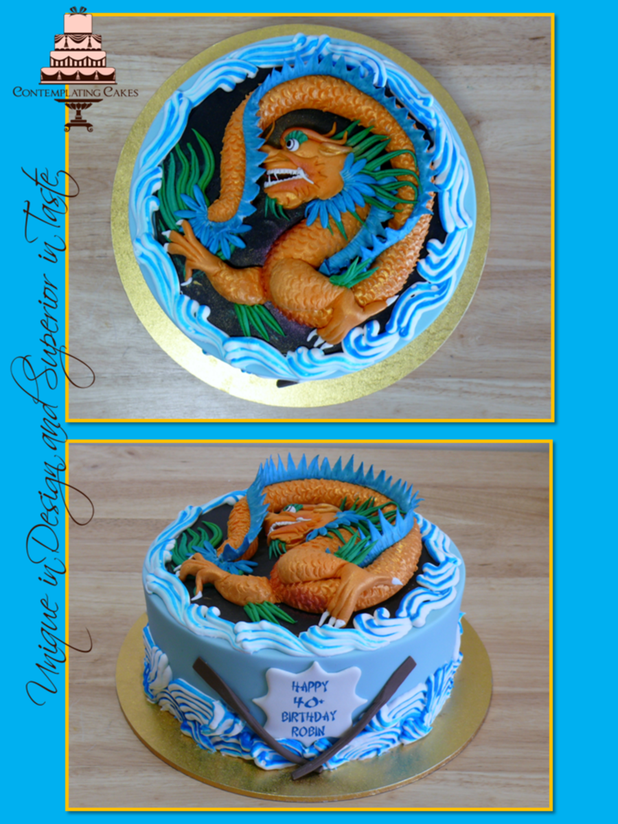 Dragon Boat Themed Birthday Cake Cakecentral Com