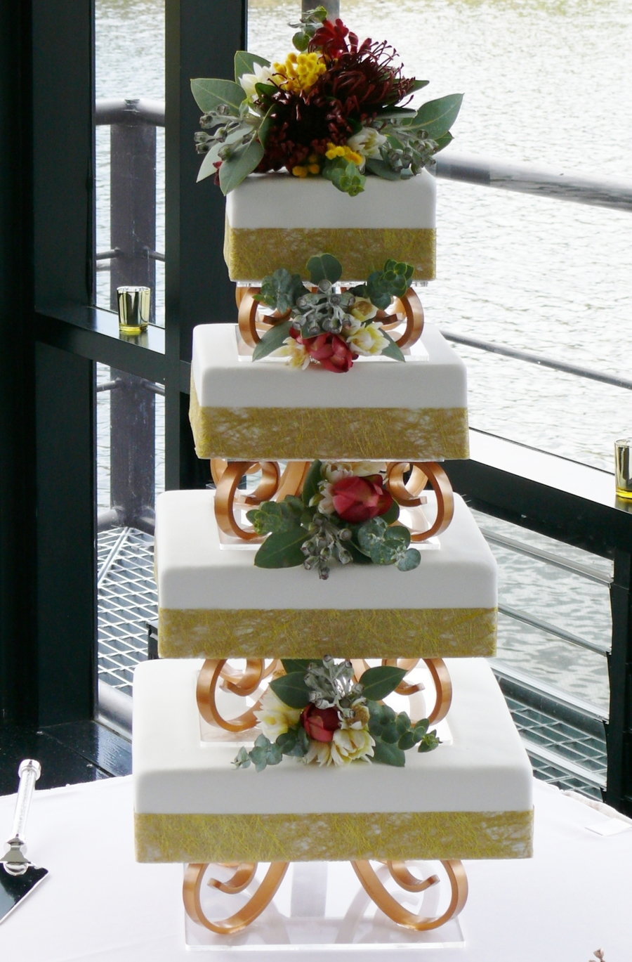 Australian Native Floral Wedding Cake on Cake Central