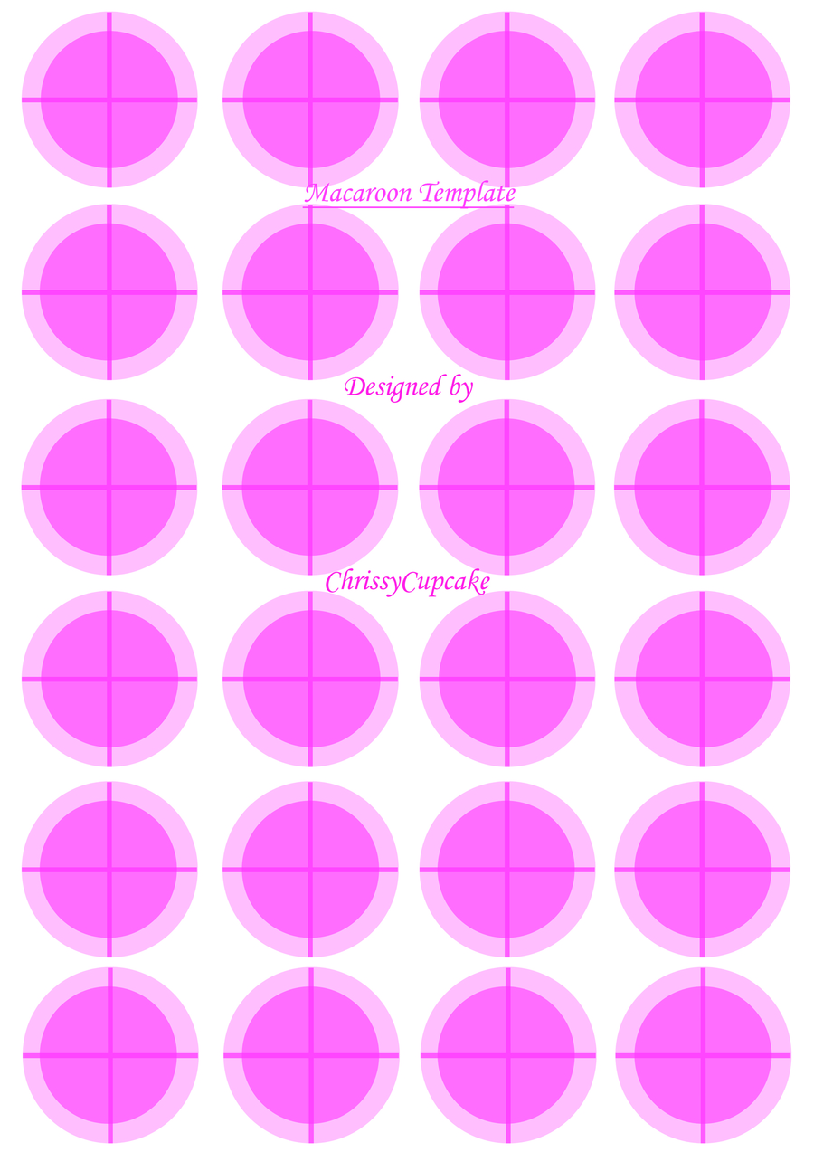 Macaroon template for Macaron baking sheet template