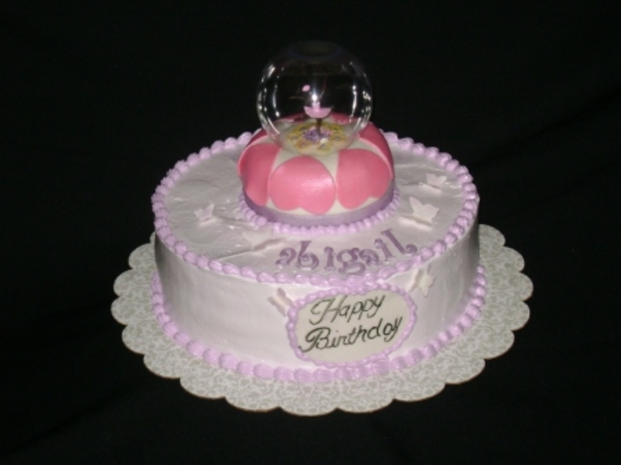Ballerina Snow Globe on Cake Central
