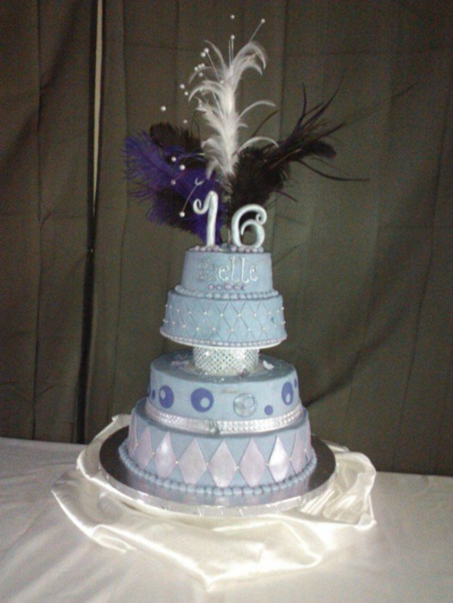 Purple Sweet Sixteen Cake on Cake Central