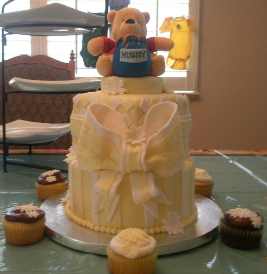 Whinnie The Pooh Baby Shower Cake on Cake Central