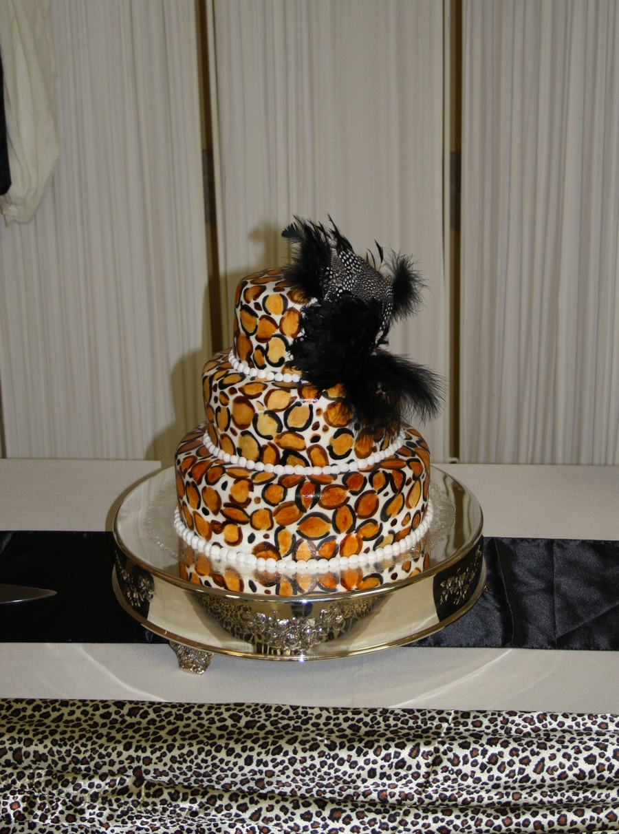Leopard Print Wedding Cake on Cake Central