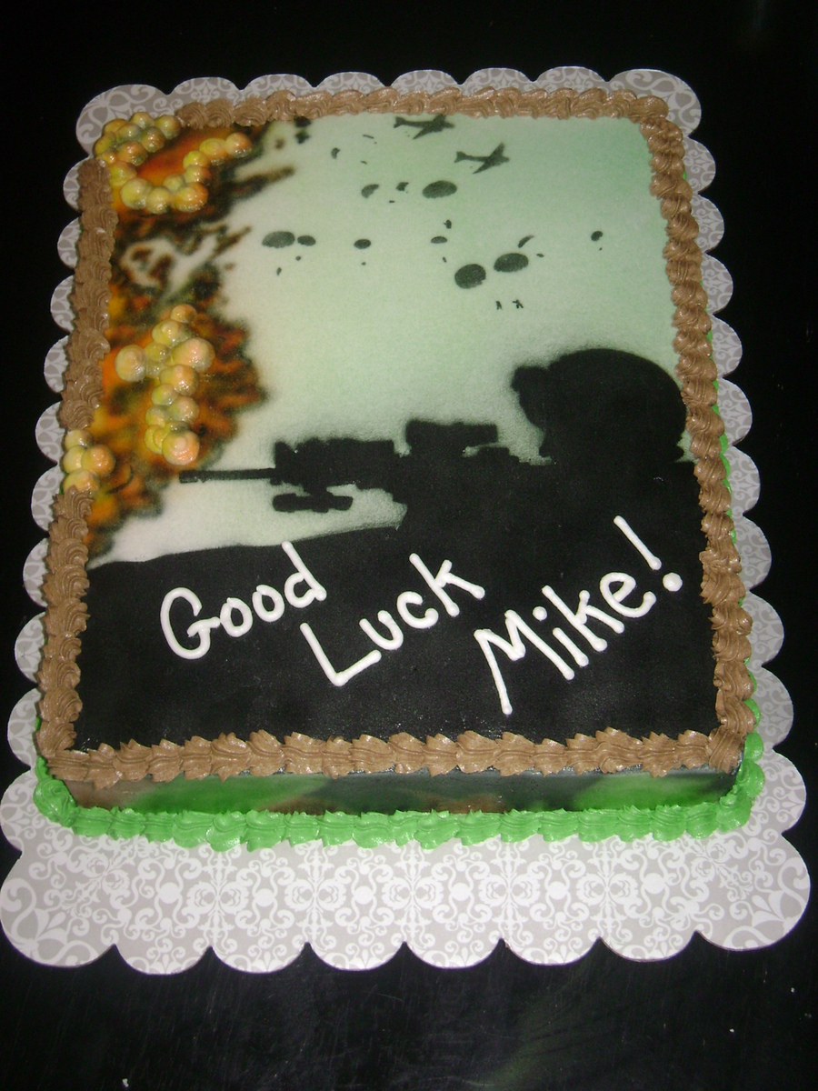 Miliary Send-Off on Cake Central