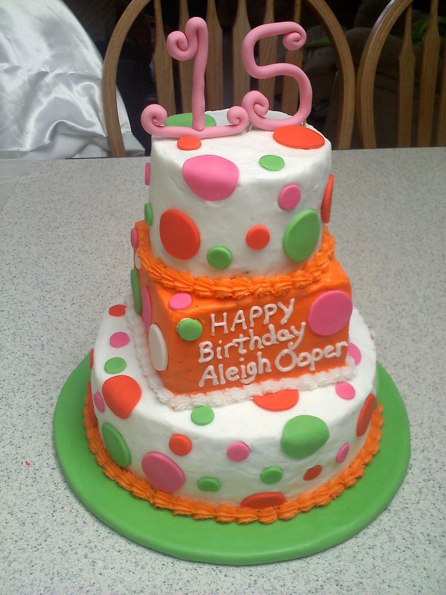 Neon Fun Birthday Cake Cakecentral