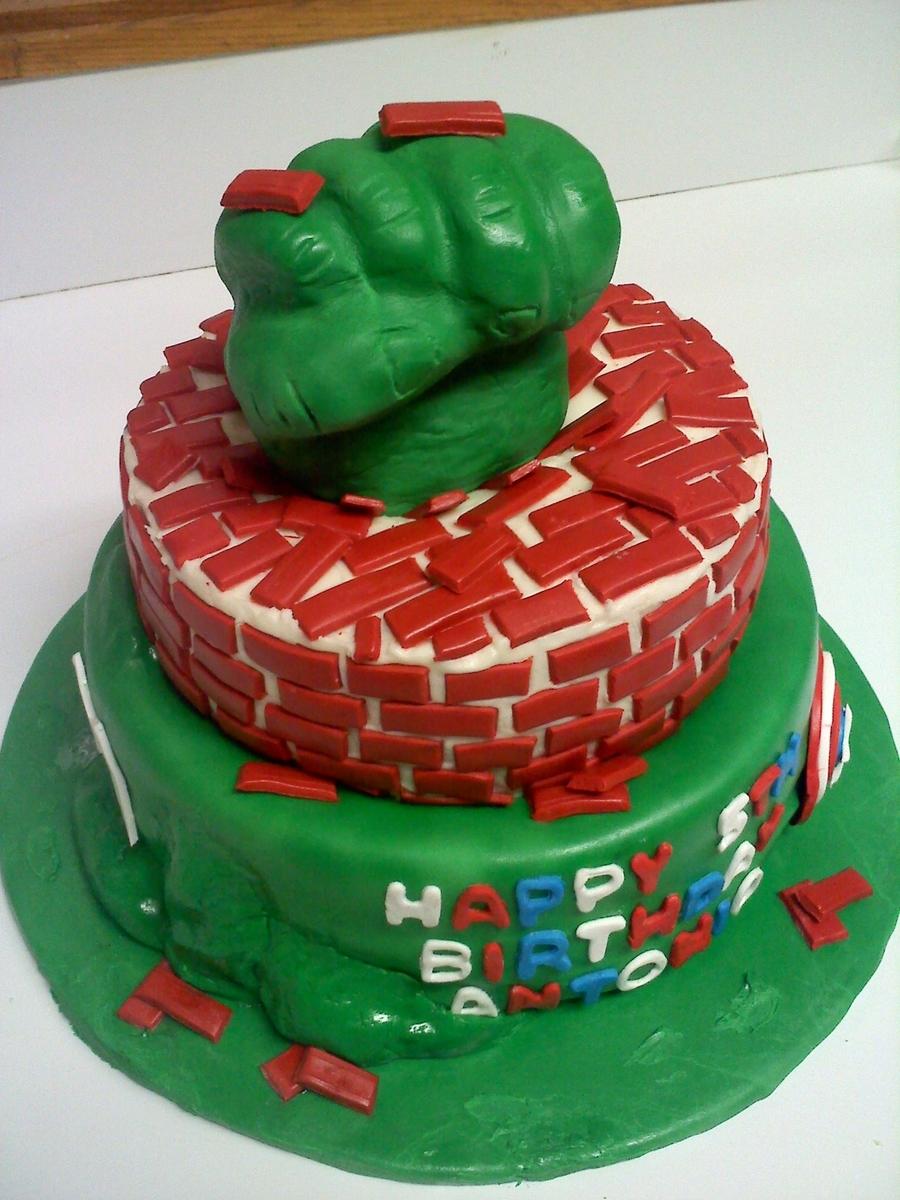 The Hulk Avengers Birthday Cake Cakecentral Com