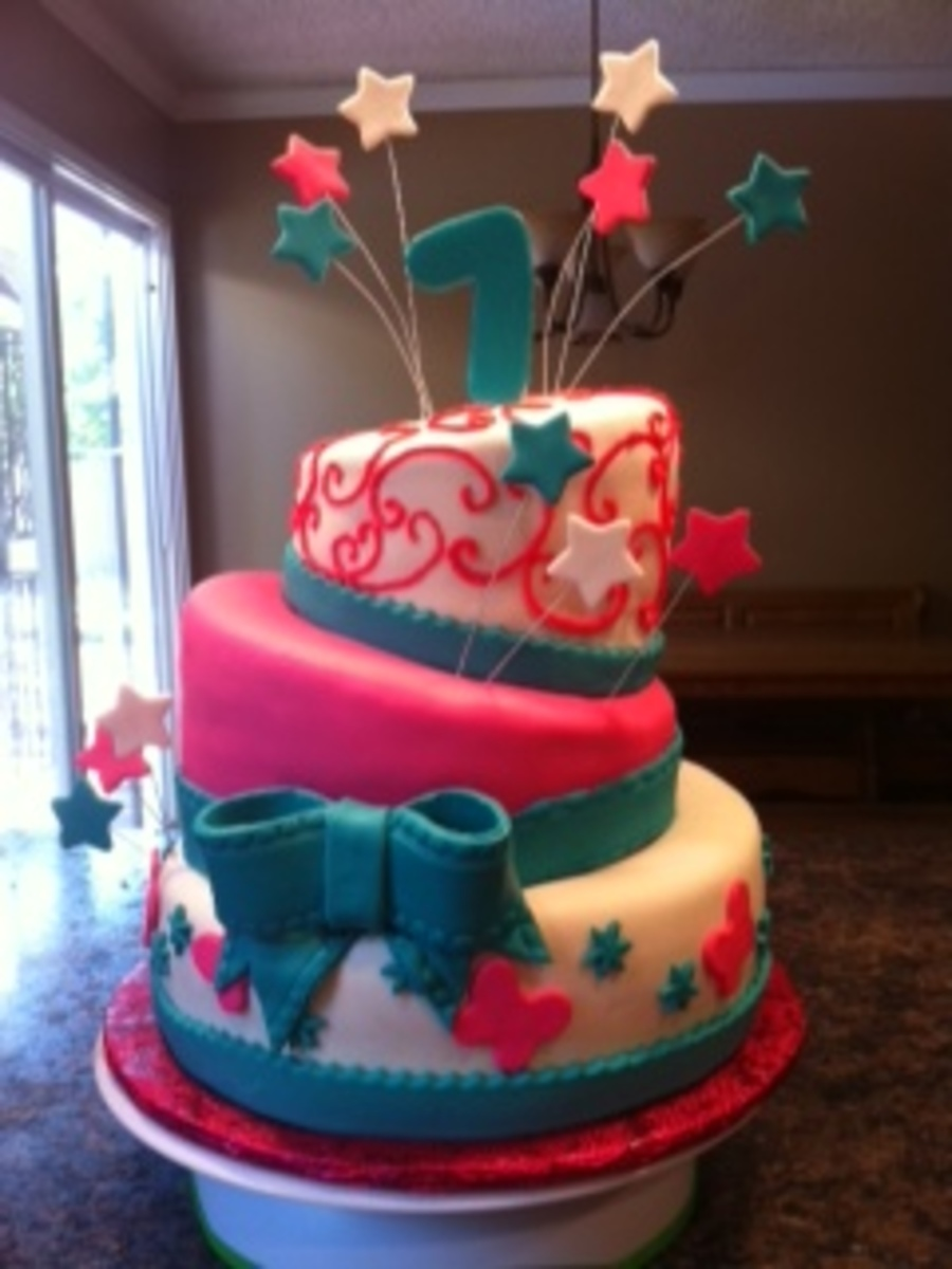 Topsy Turvy For My Daughters 7Th Birthday on Cake Central