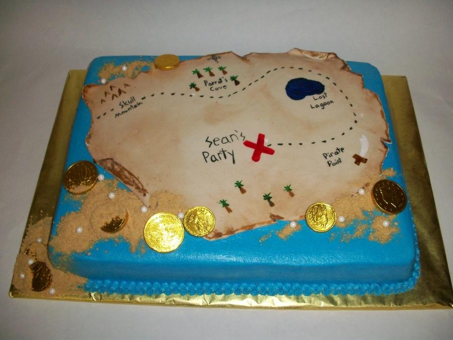 The New Treasure Hunt Birthday Cake