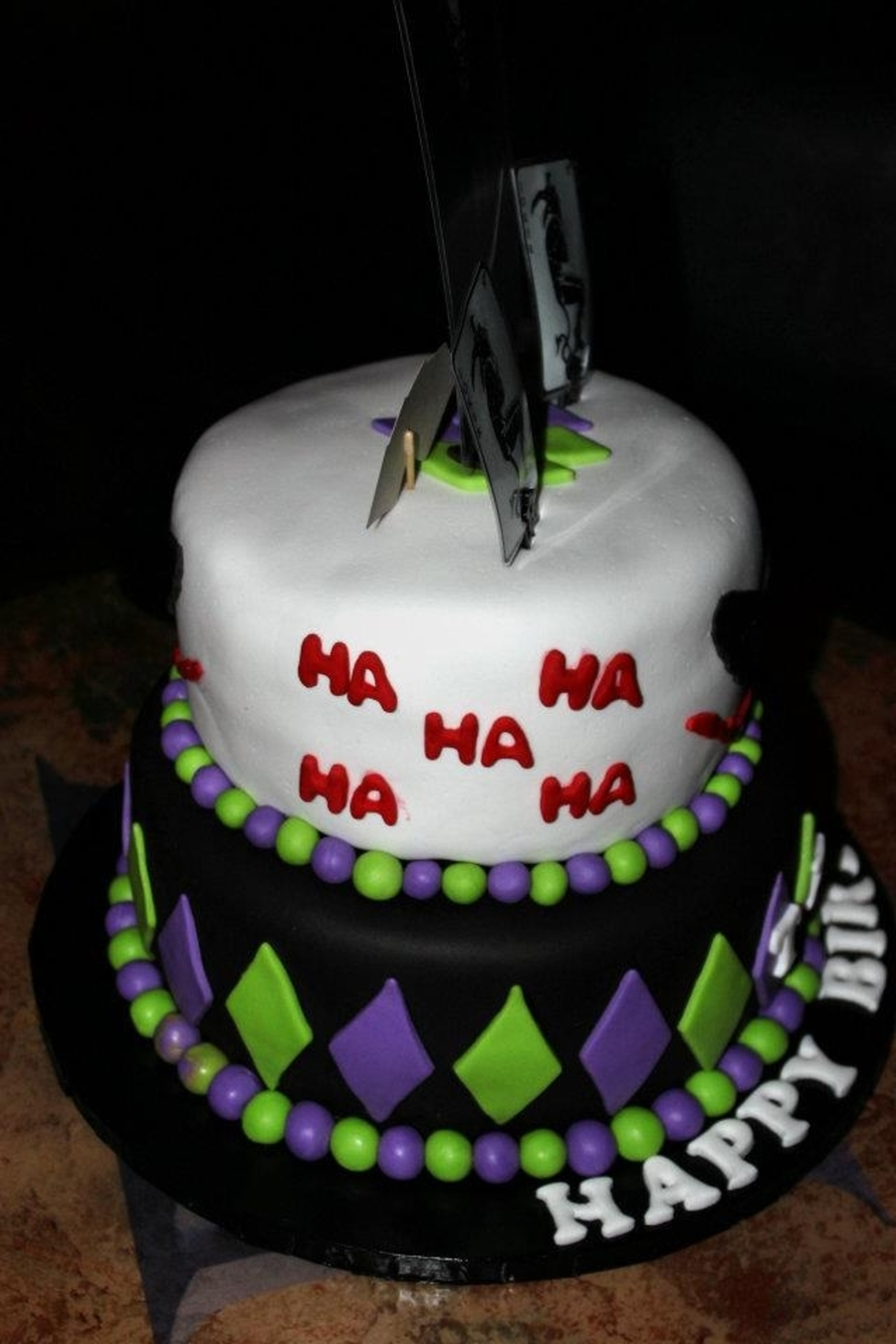 Joker Themed Birthday Cake Cakecentral Com