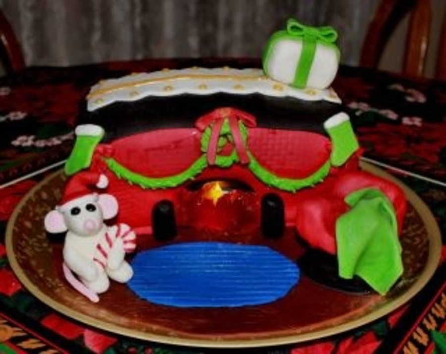 Rattie Christmas Fireplace on Cake Central