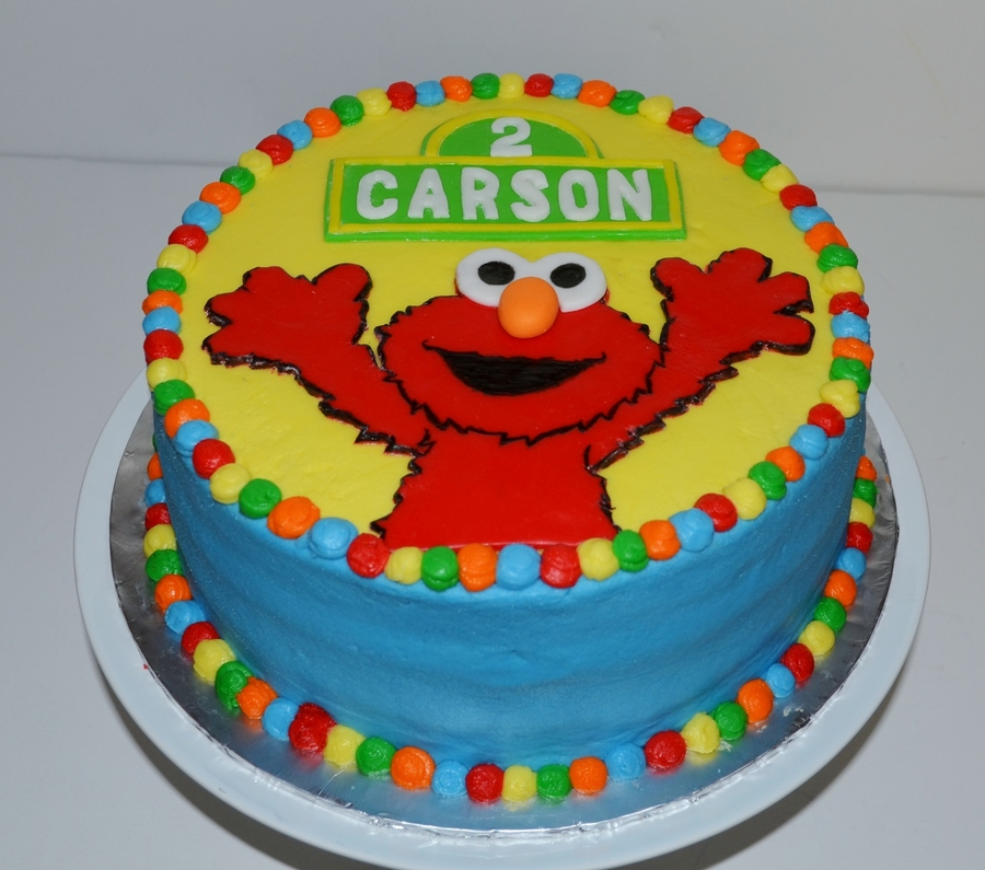 Elmo Birthday Cake Carrot Cake With Cream Cheese Frosting ...
