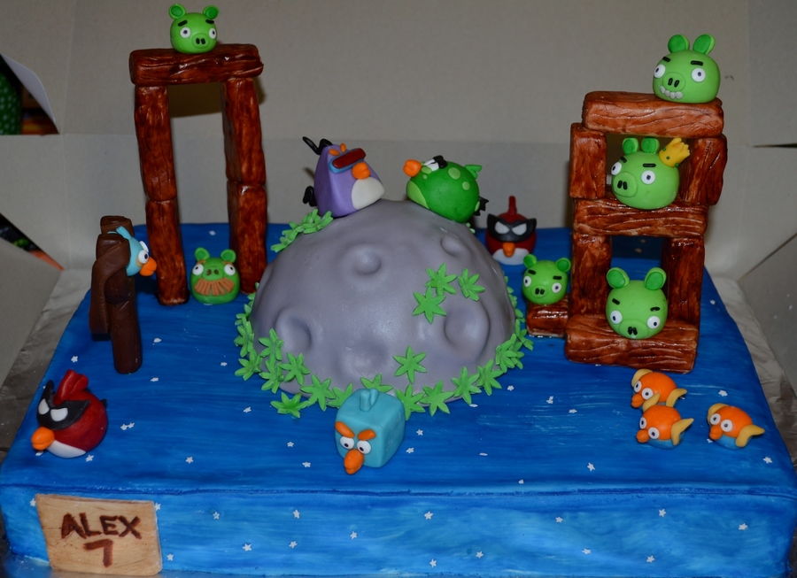 angry birds cake angry birds space cake cakecentral 1307
