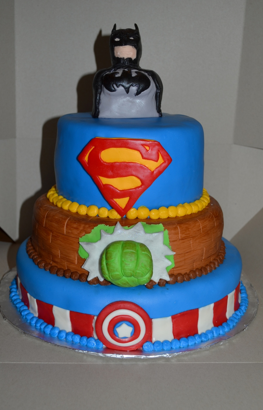 Superhero Birthday Cake Covered In Mmf on Cake Central