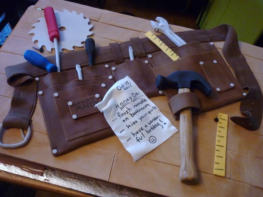 handy andy s tool belt cake cakecentral com