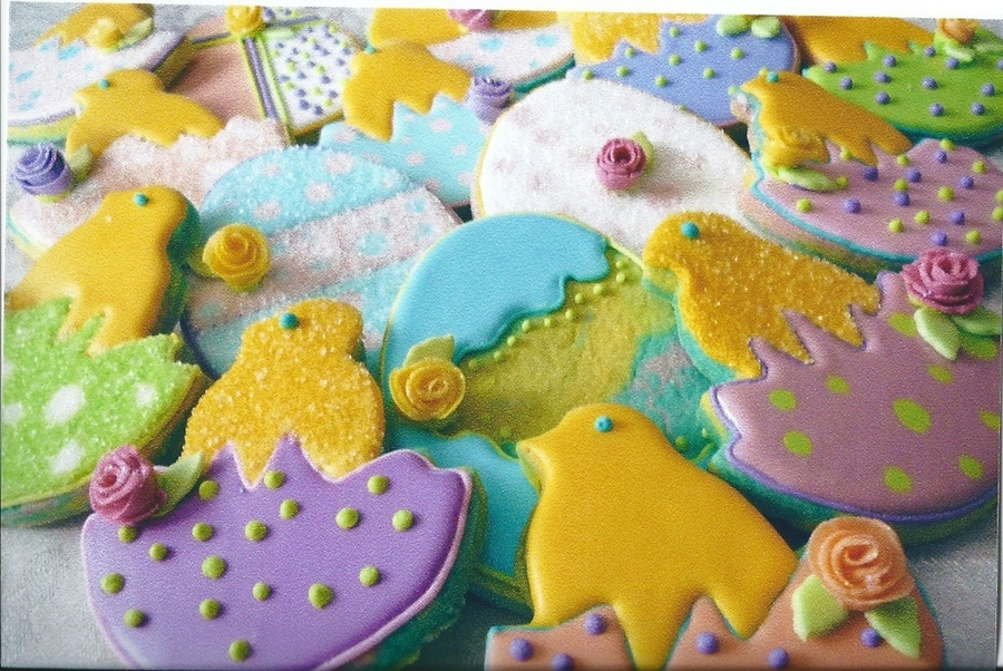 Easter Chicks And Easter Eggs. on Cake Central