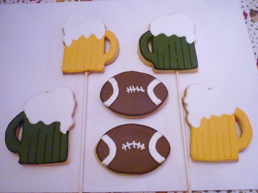 Green Bay Packer Cookies... on Cake Central
