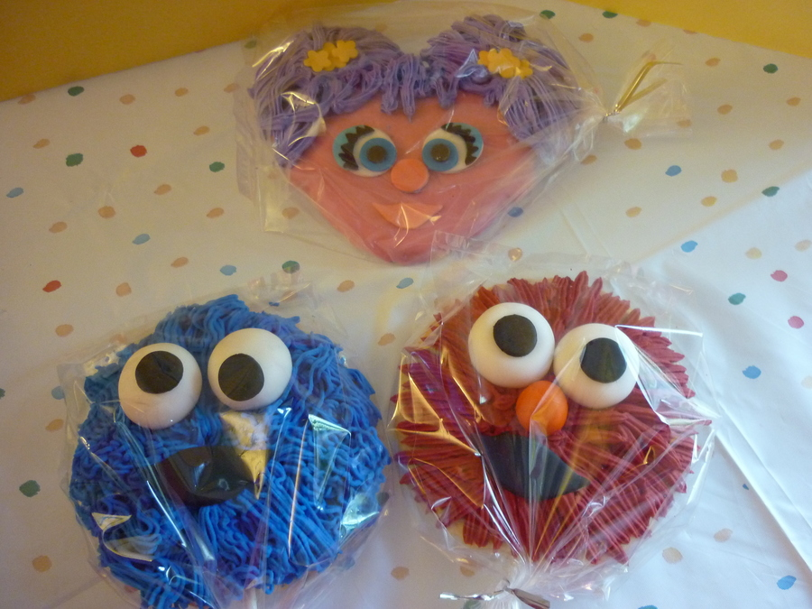 Abby Cadabby, Cookie Monster, Elmo Cookies on Cake Central