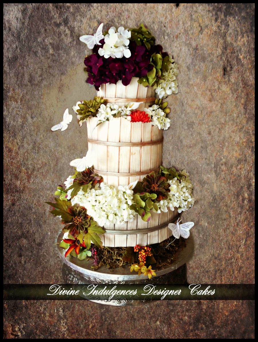 Country Diva Wedding Cake on Cake Central