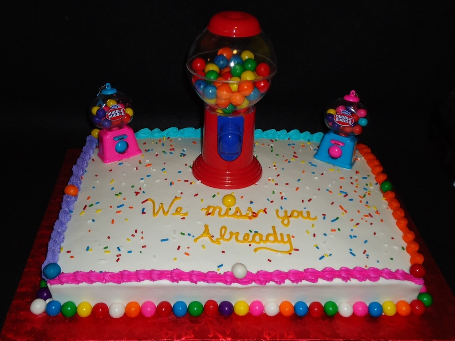 Gumball Sheet Cake on Cake Central