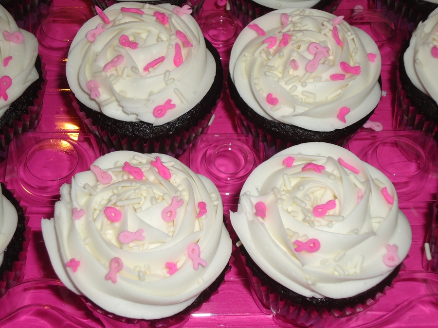 Breast Cancer Ribbon Cupcakes on Cake Central