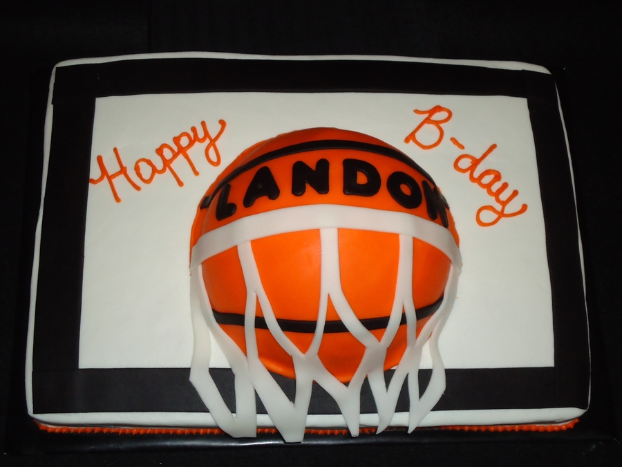Basketball Goal on Cake Central