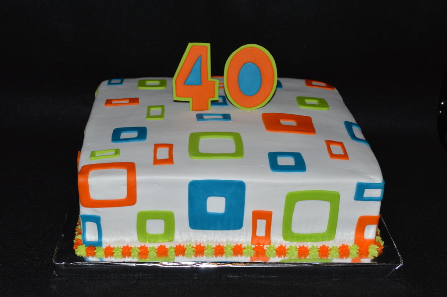 12 Square Squares Cake on Cake Central