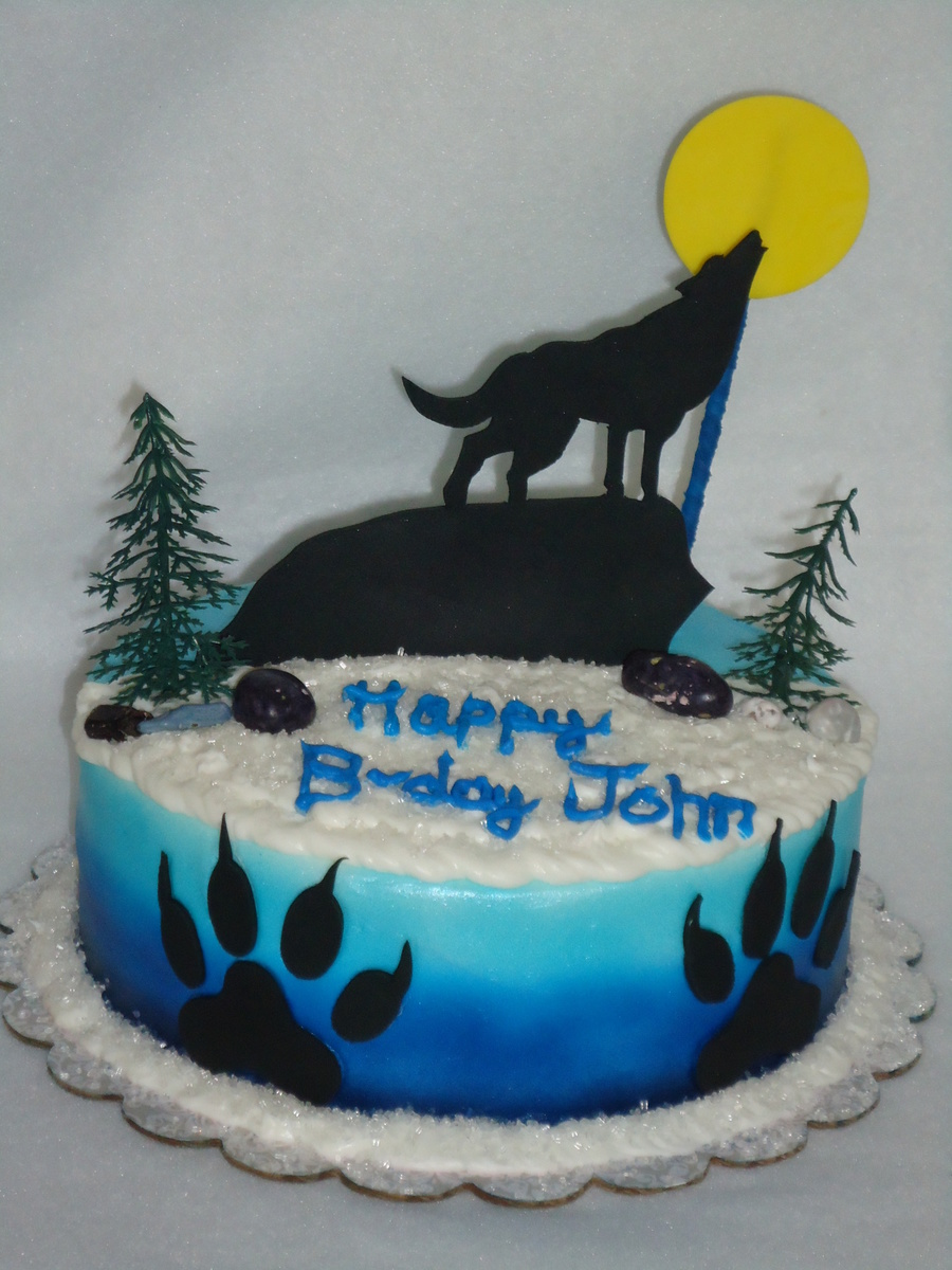 Howling Wolf Cake on Cake Central