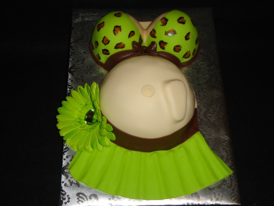 Bathing Suit Baby Bump on Cake Central