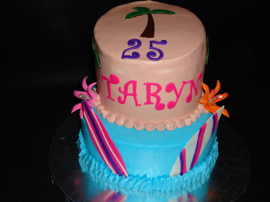 Tremendous Hawaiian Birthday Cake Cakecentral Com Funny Birthday Cards Online Fluifree Goldxyz