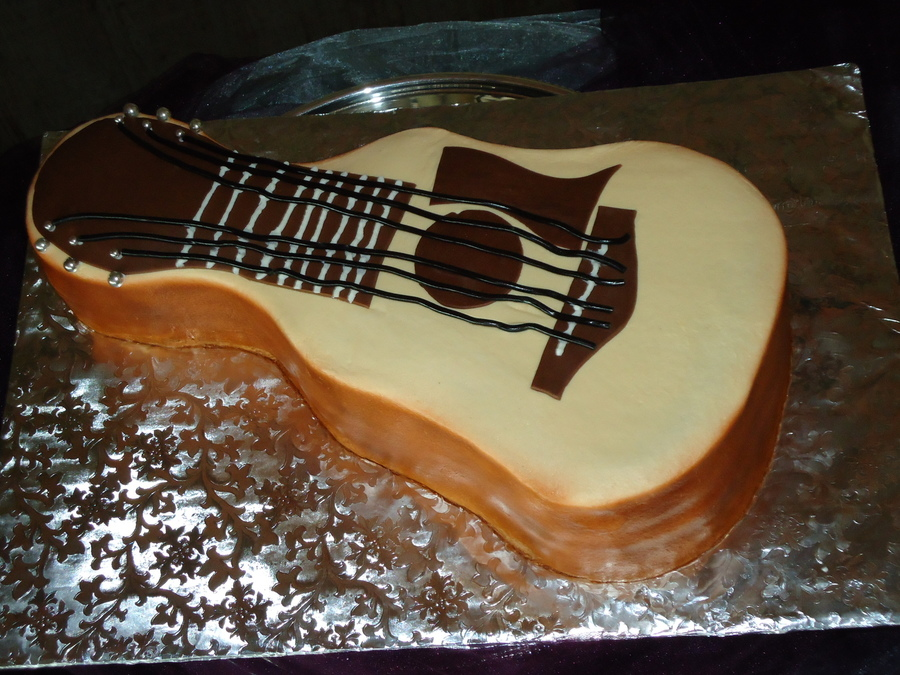 Guitar Grooms Cake on Cake Central