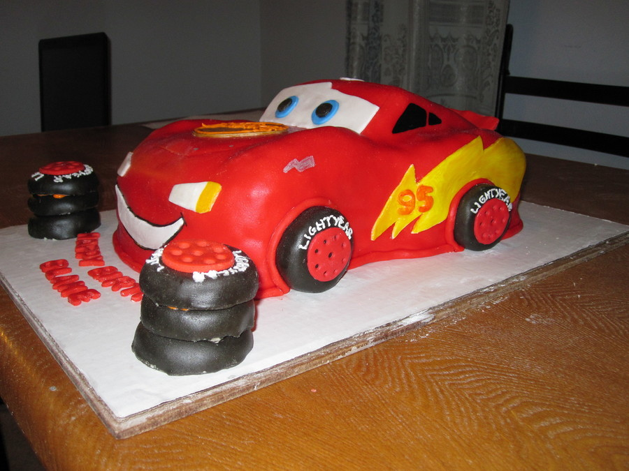 3D Lightning Mcqueen Cake on Cake Central