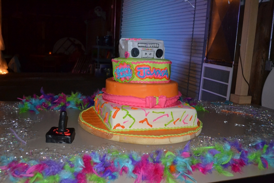 Totally 80's on Cake Central