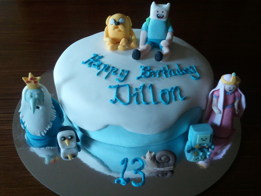 Dillon's Adventure Time Cake on Cake Central