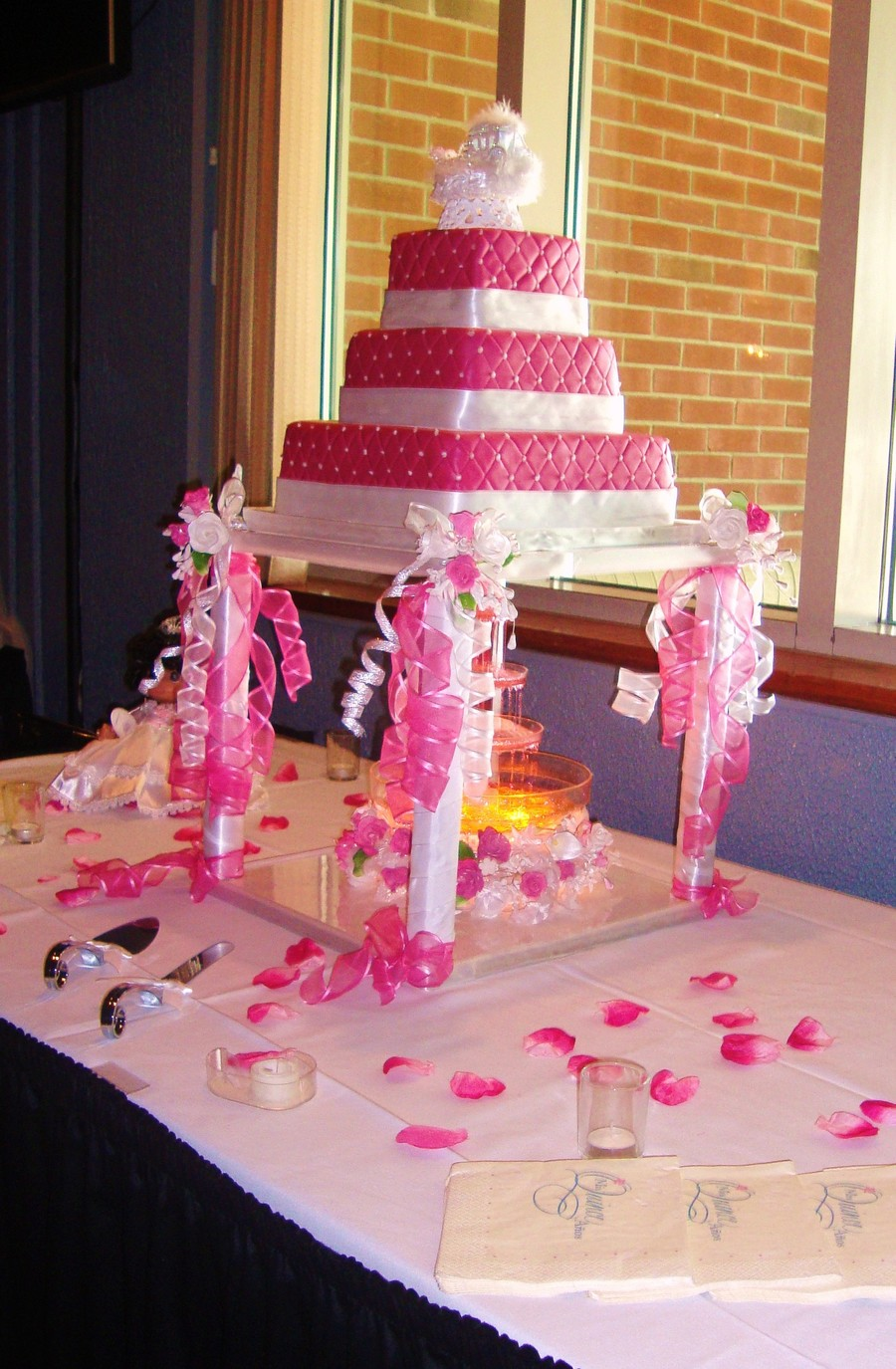 Hot Pink Quinceanera on Cake Central