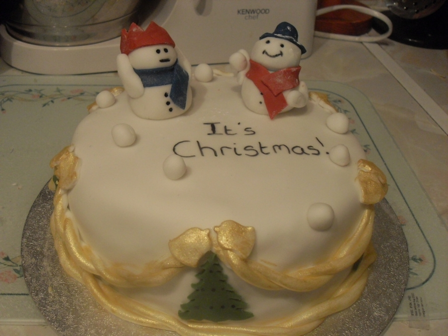 Snowman Cake. on Cake Central