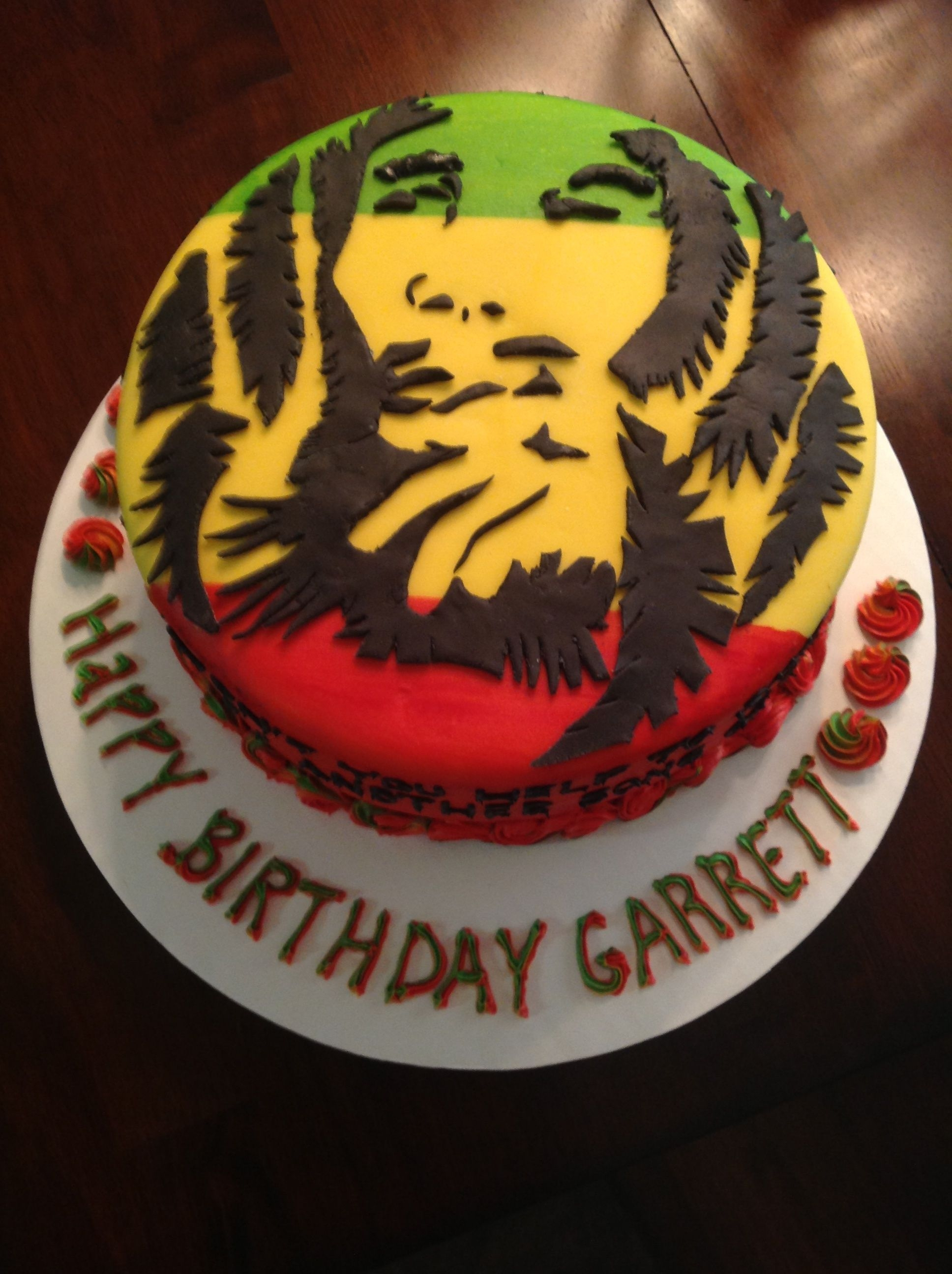Pleasing Bob Marley Birthday Cakecentral Com Personalised Birthday Cards Veneteletsinfo