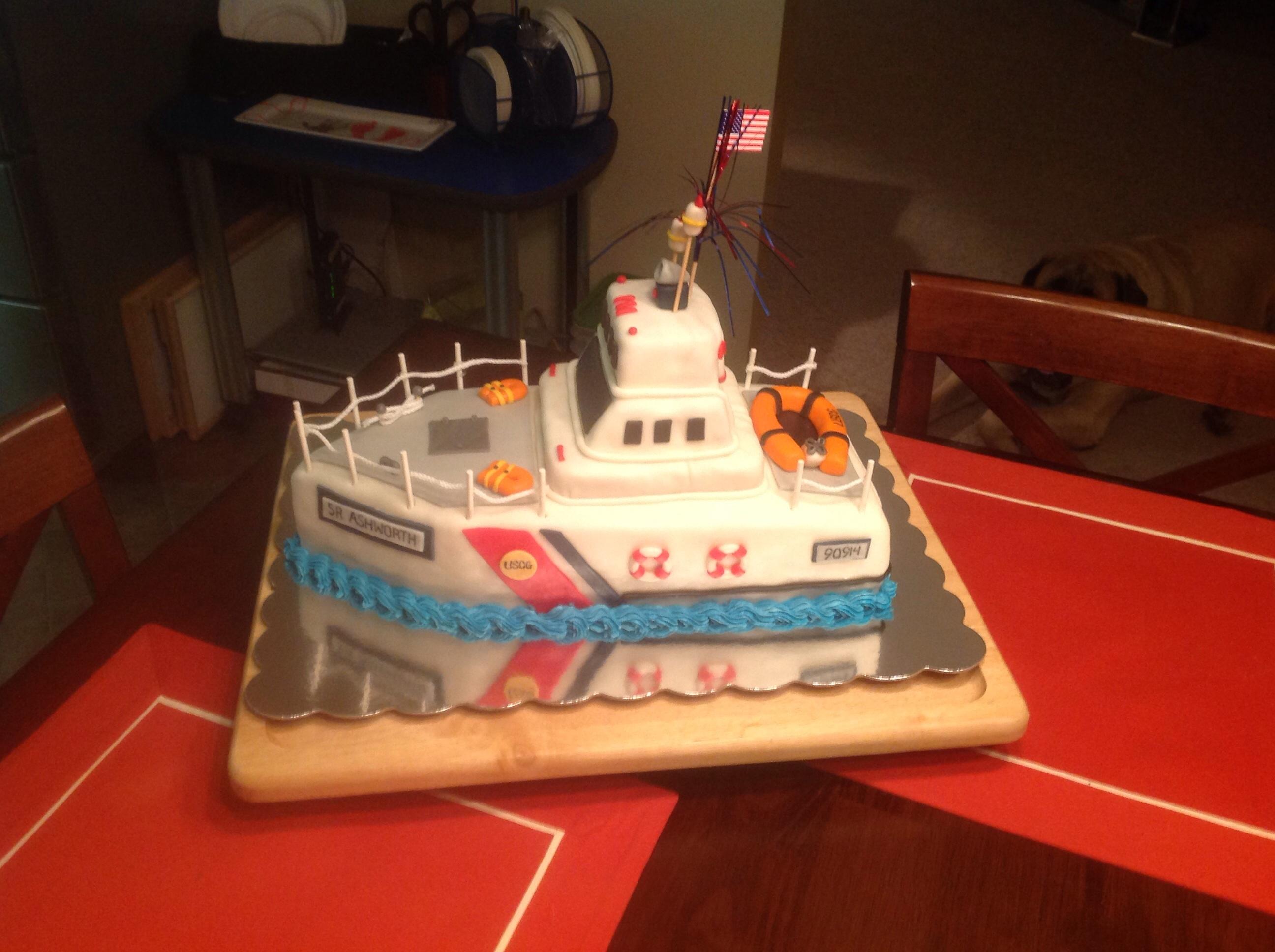 Coast Guard Boat Cake Cakecentral Com