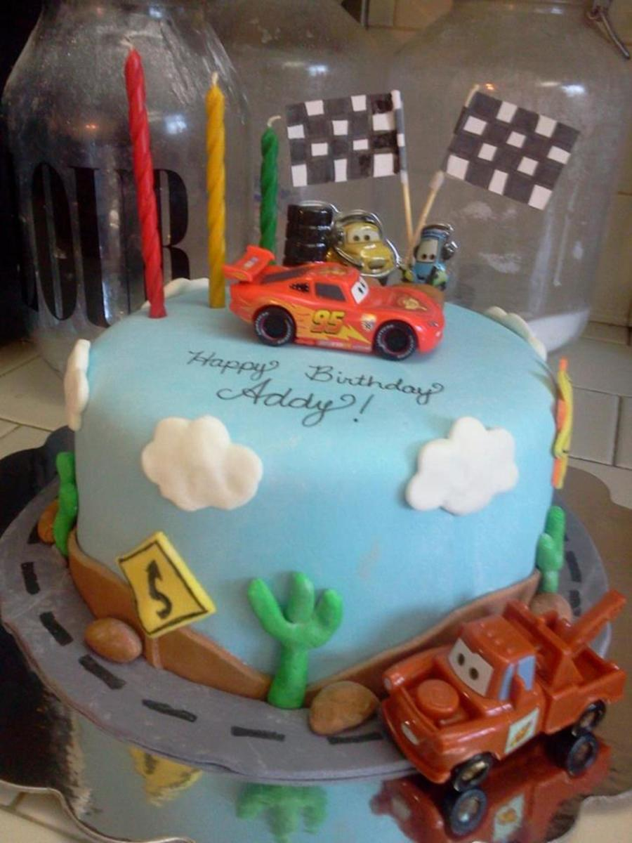 Cars Birthday Cake For A 3 Year Old Girl That LOVES The Movie All Mmf Decorations Except Decopak With Lightning McQueen Mater