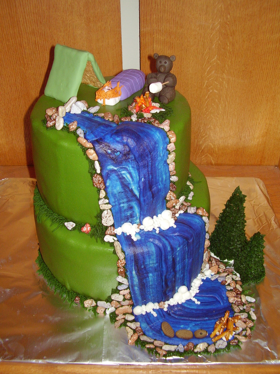 Camping Theme Cake on Cake Central