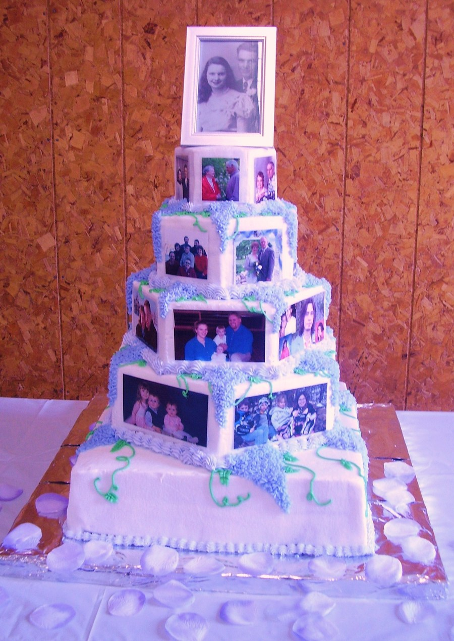 60Th Anniversary Picture Cake on Cake Central