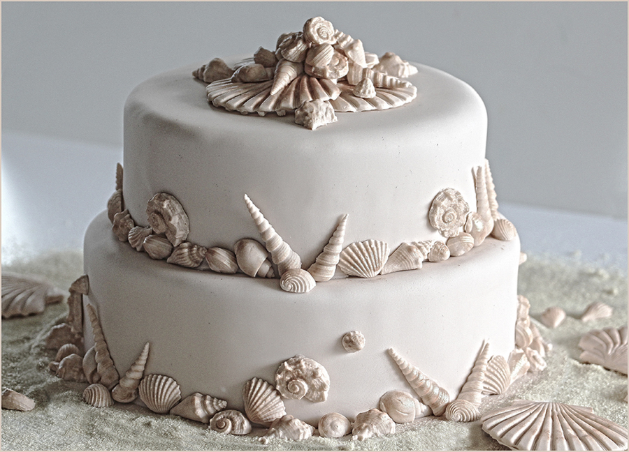 Beach Wedding Cake on Cake Central