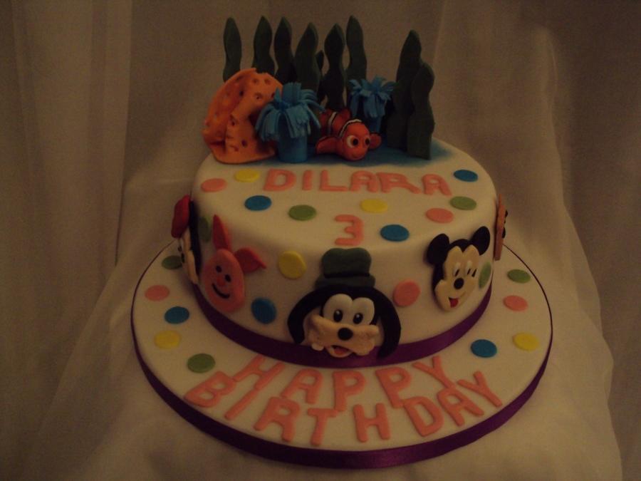 Pleasant Disney Character Birthday Cake Cakecentral Com Funny Birthday Cards Online Bapapcheapnameinfo